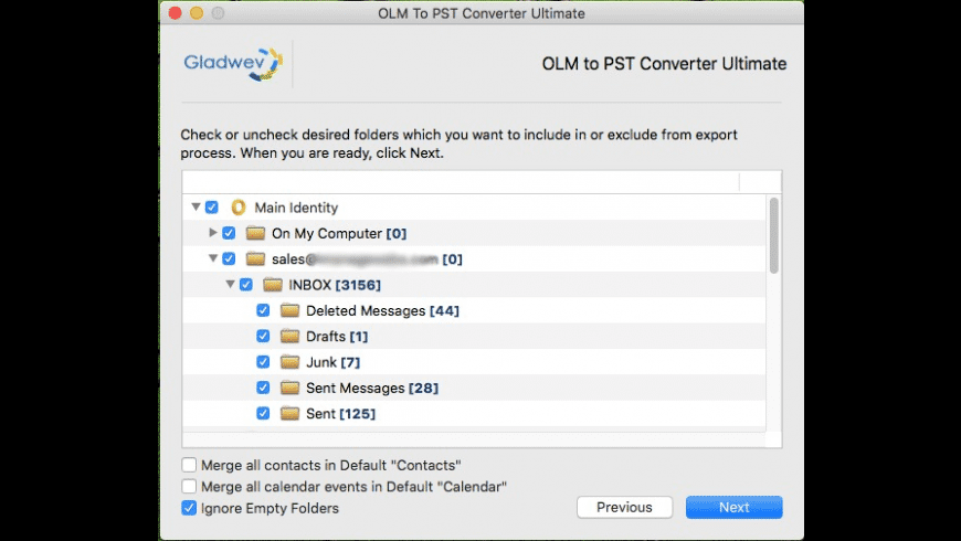 OLM to PST Converter Ultimate for Mac - review, screenshots