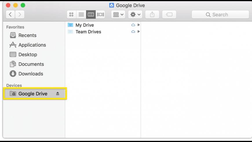 Google Drive File Stream for Mac - review, screenshots