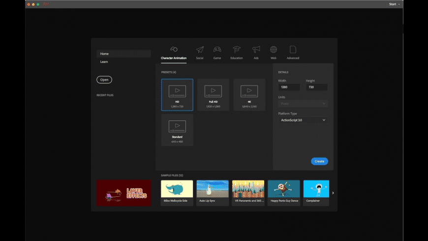 Adobe Animate CC 2019 for Mac - review, screenshots