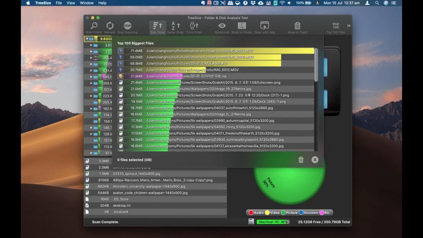 TreeSize for Mac - review, screenshots