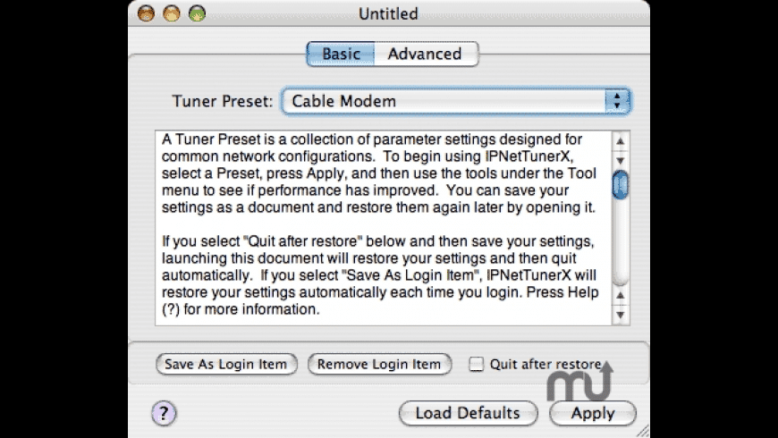IPNetTunerX for Mac - review, screenshots