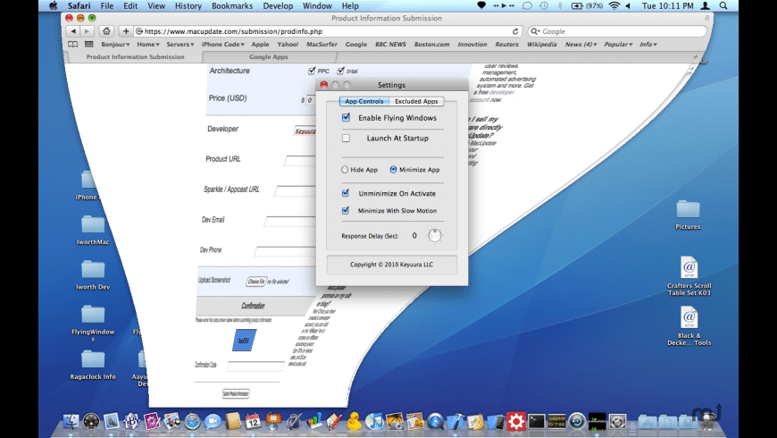FlyingWindows for Mac - review, screenshots
