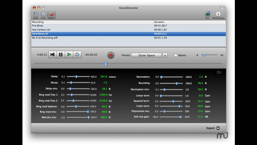 VoiceDistorter for Mac - review, screenshots