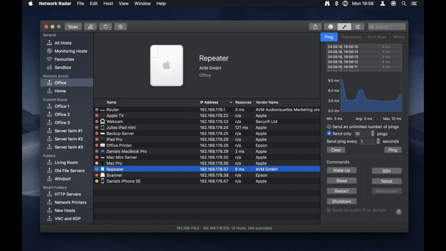 Network Radar for Mac - review, screenshots
