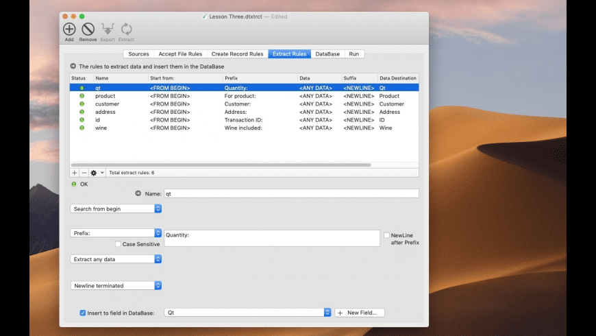 Data Extractor for Mac - review, screenshots