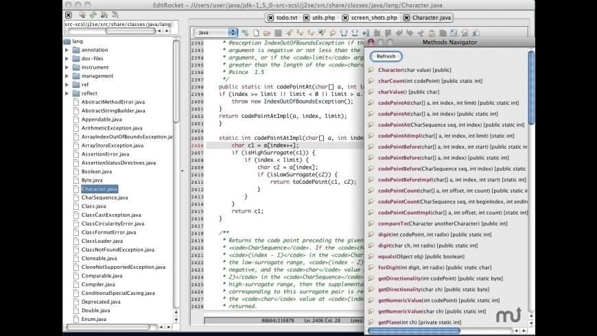 EditRocket for Mac - review, screenshots