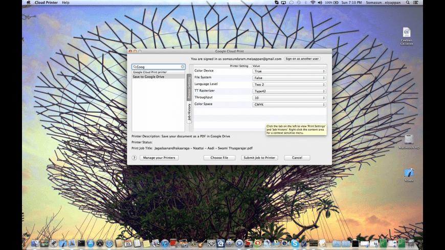 Cloud Printer for Mac - review, screenshots