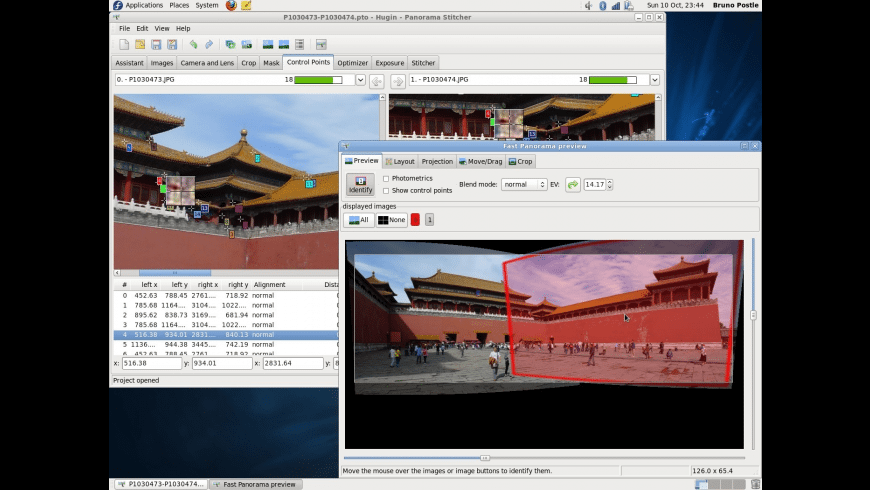 Hugin for Mac - review, screenshots