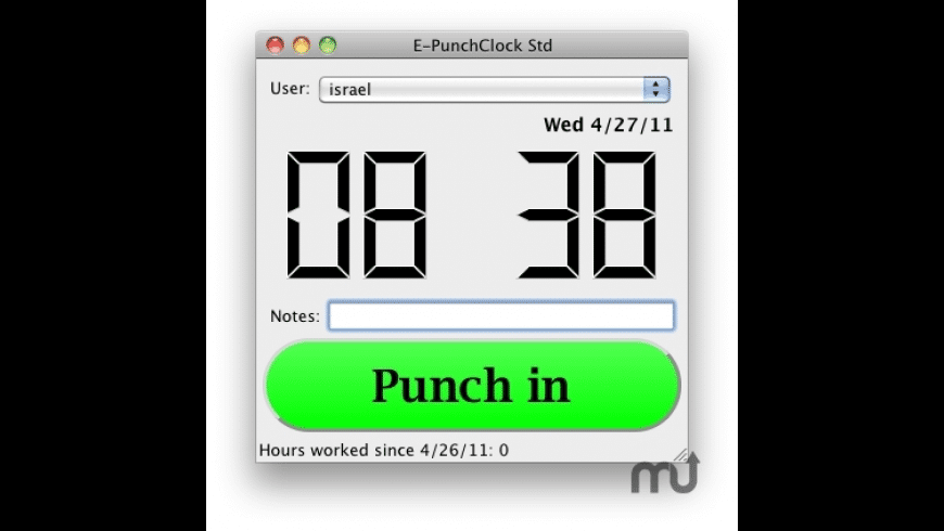 EZPunch Standard for Mac - review, screenshots