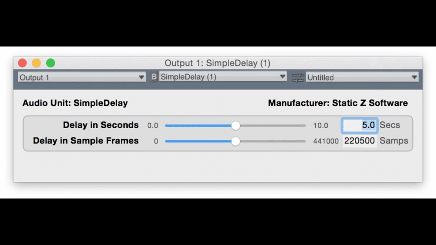 Simple Delay for Mac - review, screenshots