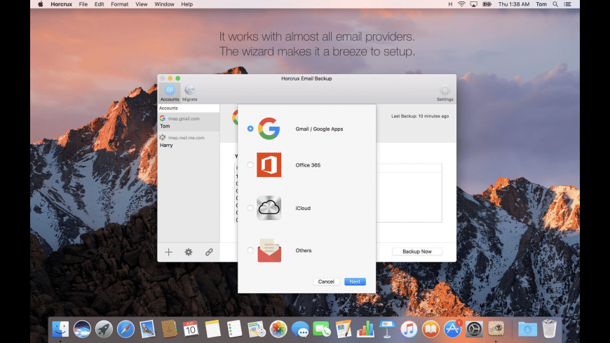 Horcrux Email Backup for Mac - review, screenshots