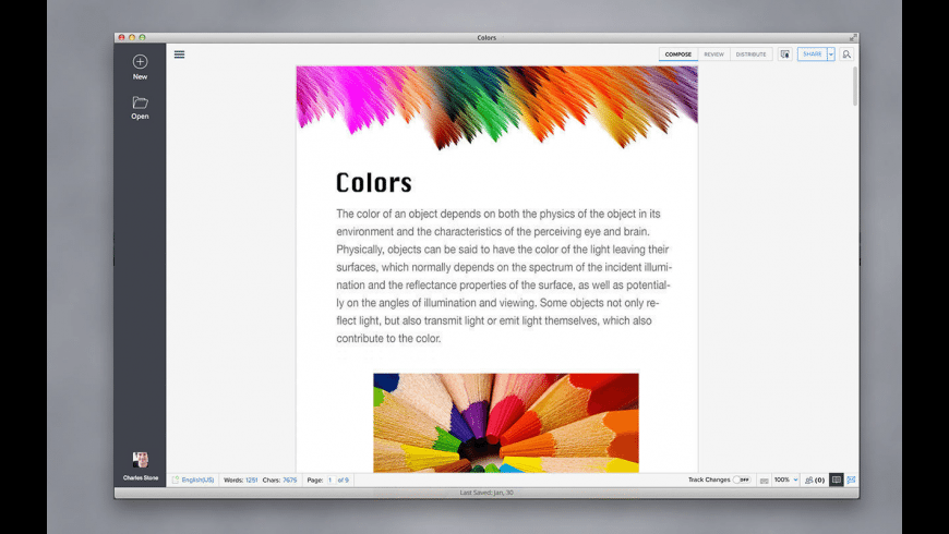 Writer for Mac - review, screenshots
