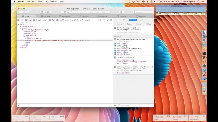 Ubersicht for Mac - review, screenshots