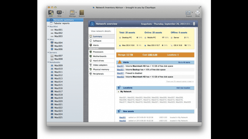Network Inventory Advisor for Mac - review, screenshots