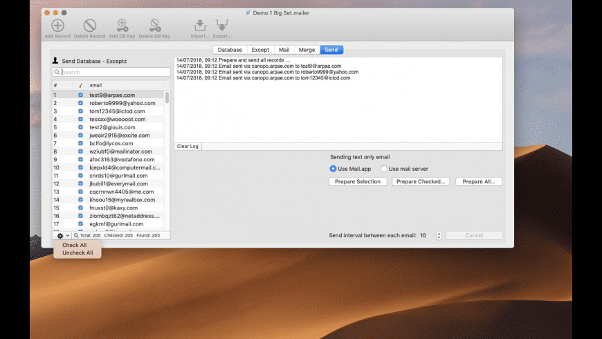 AutoMailer for Mac - review, screenshots