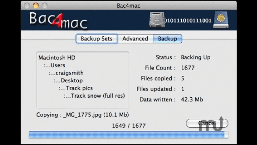 Bac4mac for Mac - review, screenshots