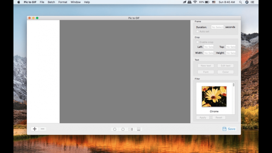 Pictures to GIF for Mac - review, screenshots