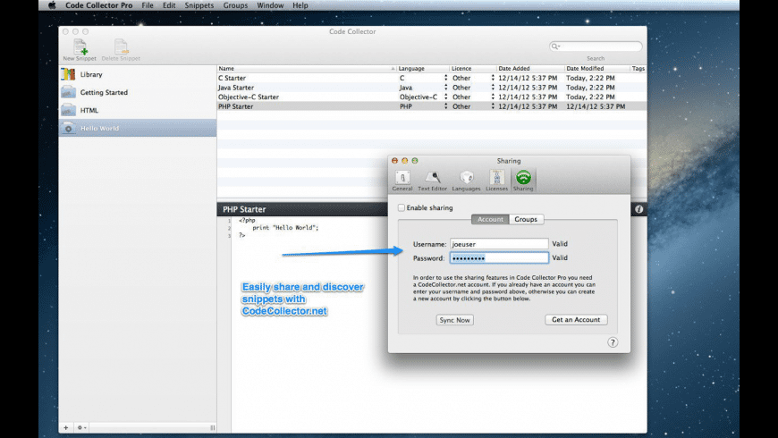 Code Collector Pro for Mac - review, screenshots