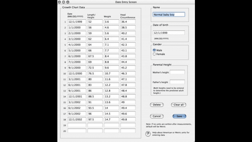 Growth Charts for Mac - review, screenshots