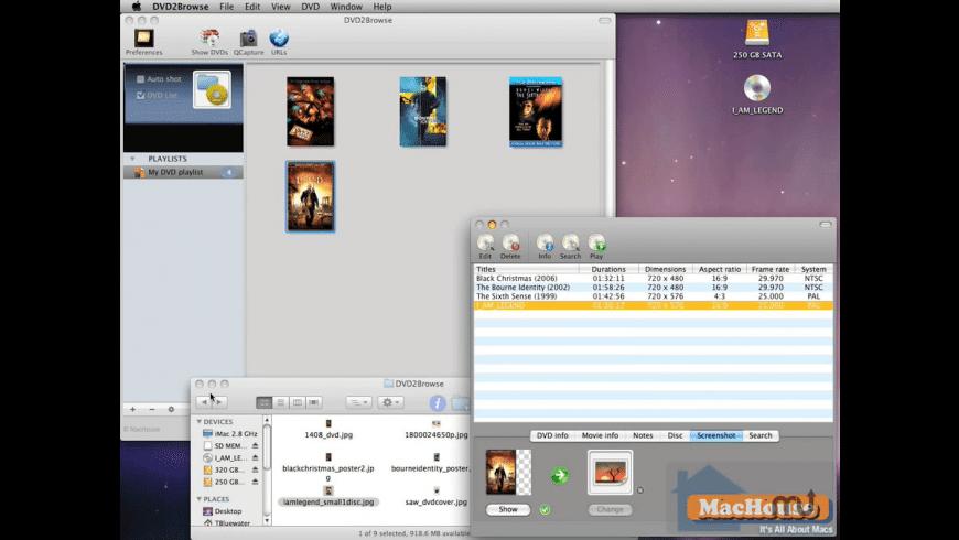 DVD2Browse for Mac - review, screenshots