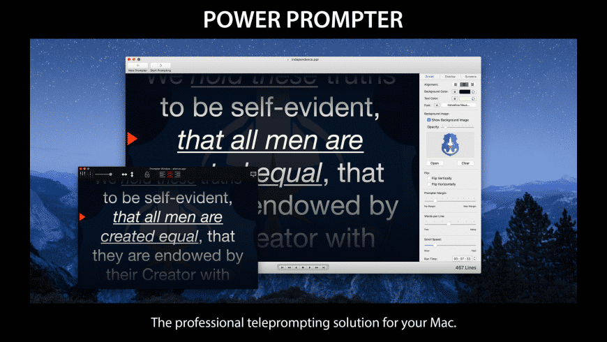 Power Prompter for Mac - review, screenshots