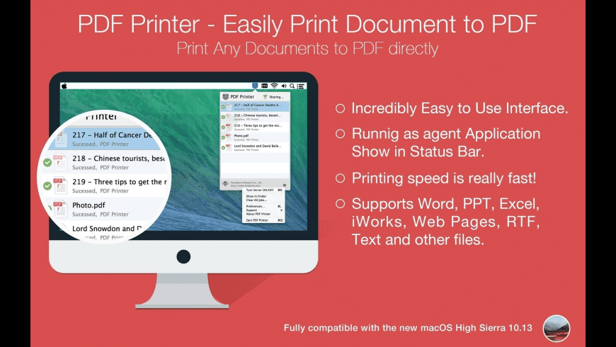 PDF Printer for Mac - review, screenshots