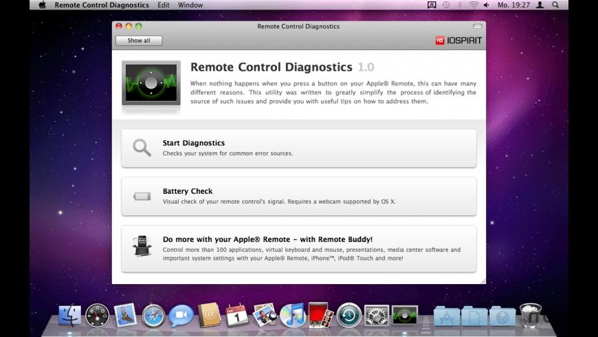 Remote Control Diagnostics for Mac - review, screenshots