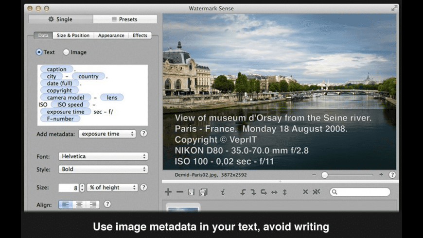 Watermark Sense for Mac - review, screenshots