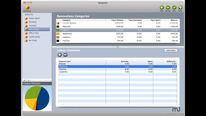 Budgeteer for Mac - review, screenshots