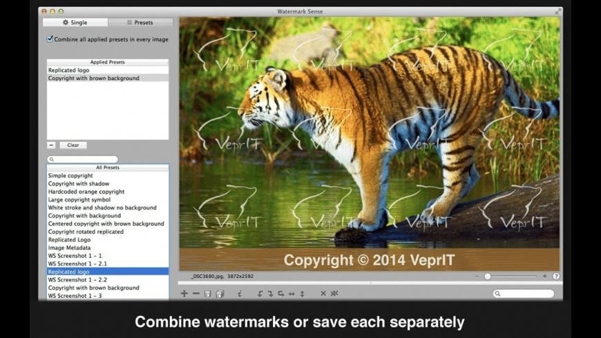 Watermark Sense for Mac - review, screenshots