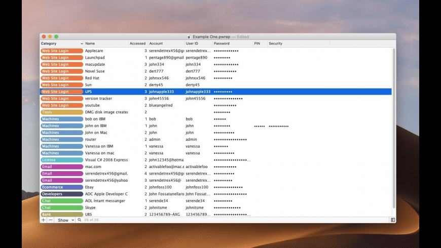 Password Repository for Mac - review, screenshots