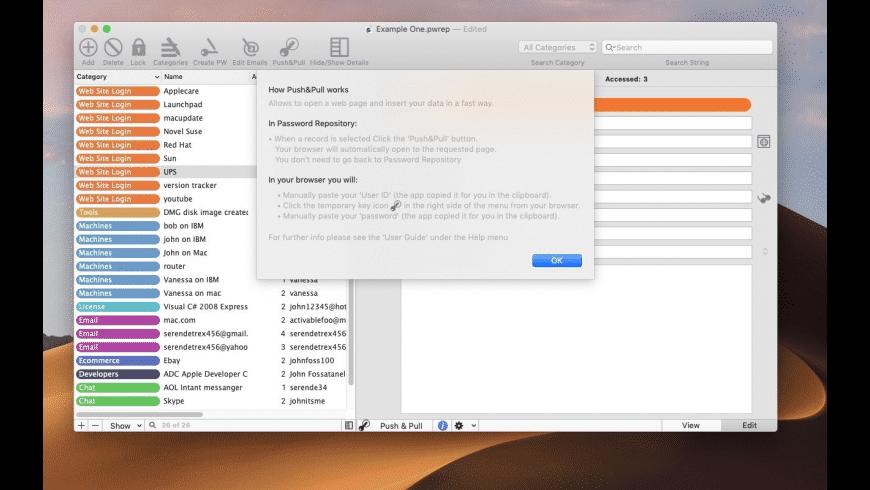 Password Repository for Mac - review, screenshots