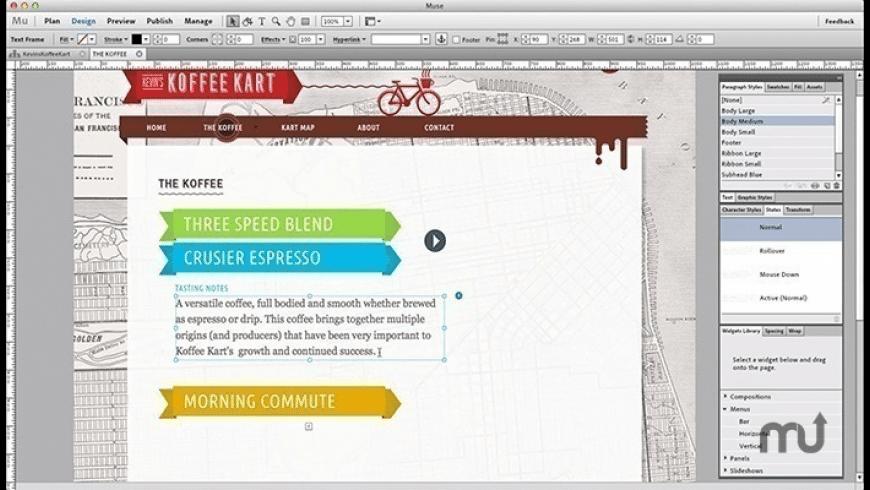 Adobe Muse CC 2017 for Mac - review, screenshots