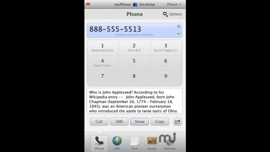 myPhoneDesktop for Mac - review, screenshots