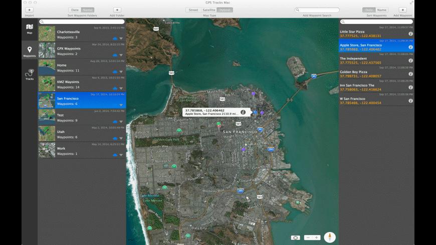 GPS Tracks for Mac - review, screenshots