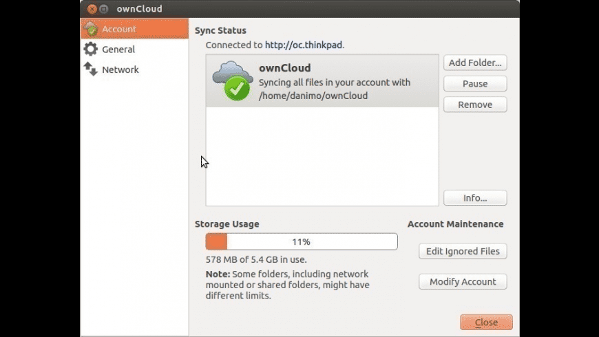 ownCloud Client for Mac - review, screenshots