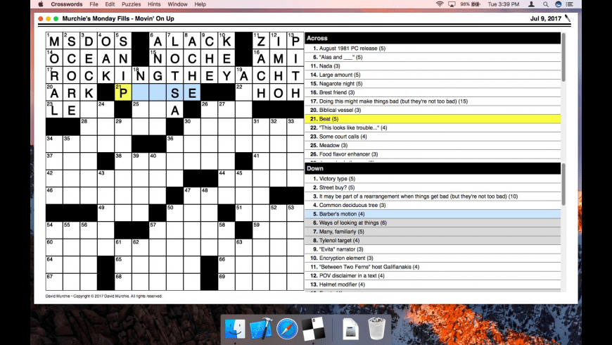 Crosswords for Mac - review, screenshots