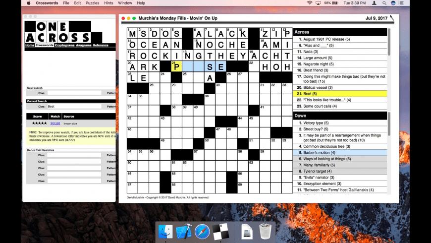 Crosswords for Mac - review, screenshots