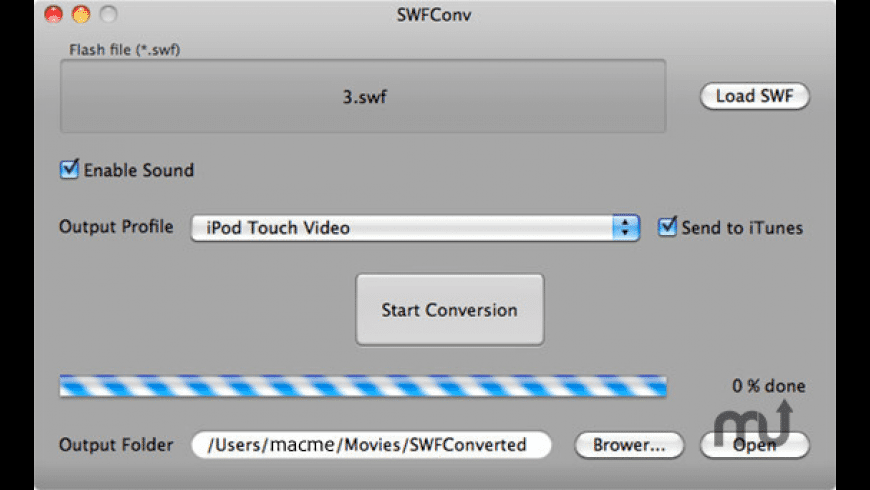 SWFConv for Mac - review, screenshots