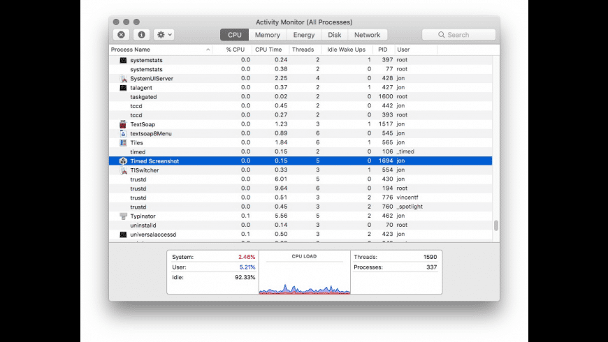 Timed Screenshot for Mac - review, screenshots
