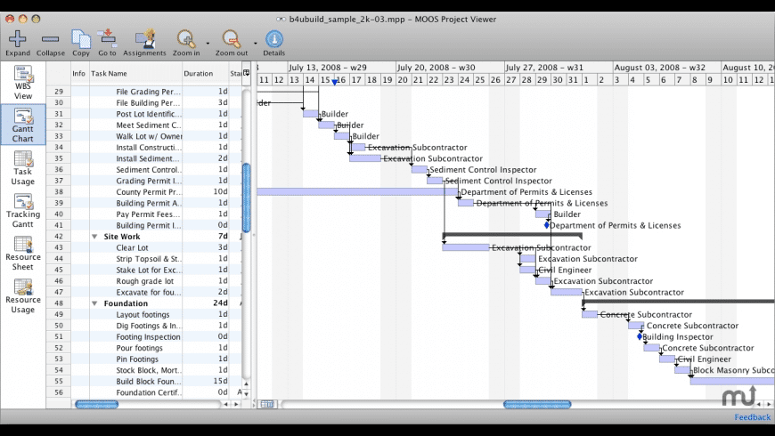 MOOS Project Viewer for Mac - review, screenshots