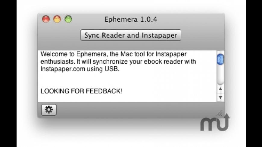 Ephemera for Mac - review, screenshots