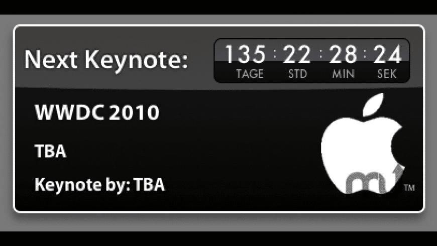 Apple Keynote Countdown Widget for Mac - review, screenshots