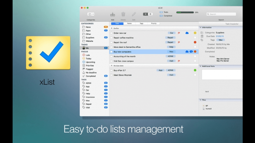 xList for Mac - review, screenshots