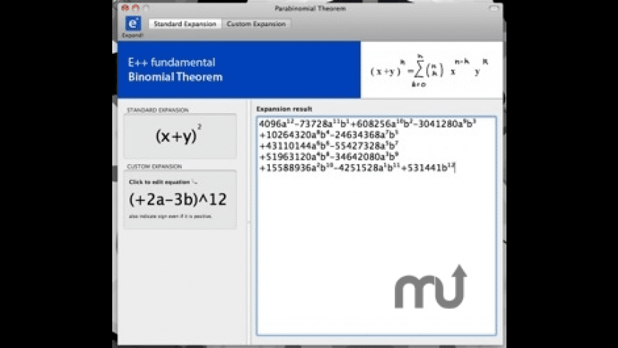 Parabinomial Theorem for Mac - review, screenshots
