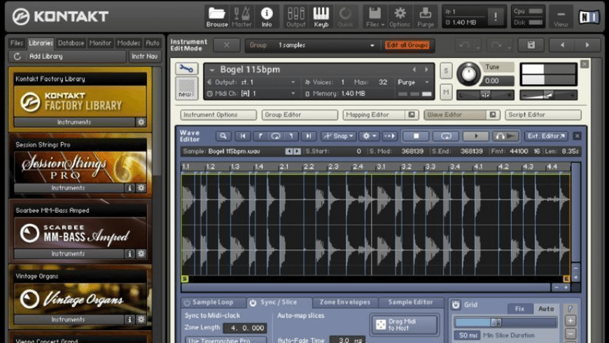 KONTAKT for Mac - review, screenshots