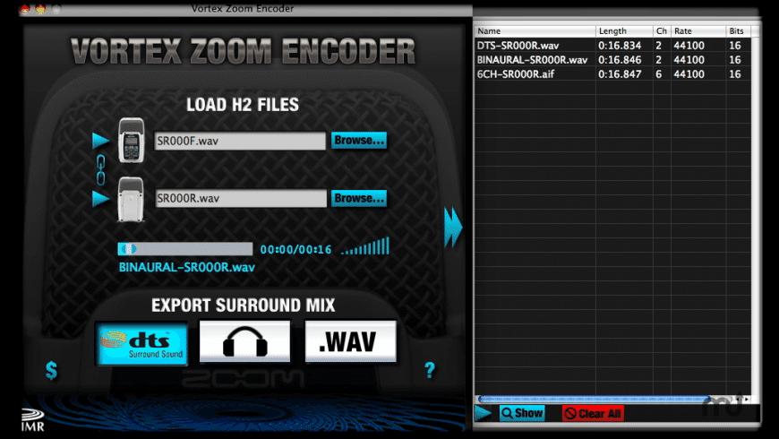 Vortex Zoom Encoder for Mac - review, screenshots