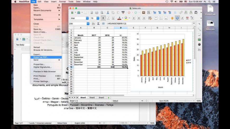 NeoOffice for Mac - review, screenshots