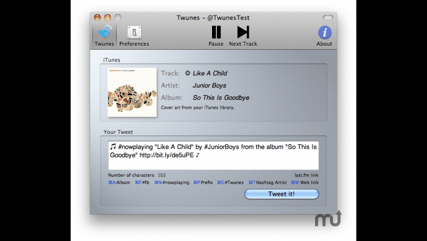Twunes for Mac - review, screenshots