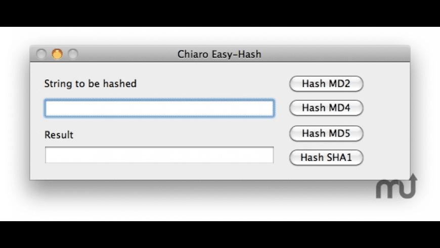 Chiaro Easy-Hash for Mac - review, screenshots